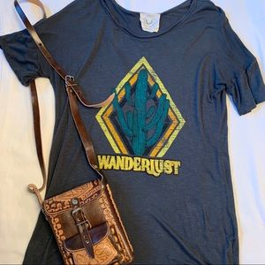 Wanderlust Cactus Graphic Tee T-Shirt (Size L)